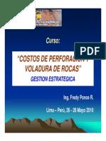 i. Costos de Perforacion en Mineria Superficial