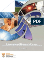 International Research Forum, Cape Town, South Africa
