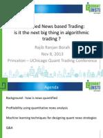 Quantified News Based Trading - Princeton UChicago - Rajib Ranjan Borah