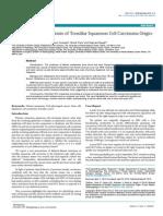 Delayed Distant Metastasis of Tonsillar Squamous Cell Carcinoma Origin a Case Report.pdf 2161 119X.1000170