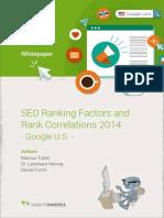 Searchmetrics Ranking Factor Study 2014