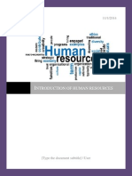 Introduction of Human Resources