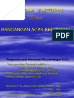 Contoh Faktorial Rak 2.