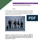 Empresa Como Organizacion Social YClasificacion de Empresa v3