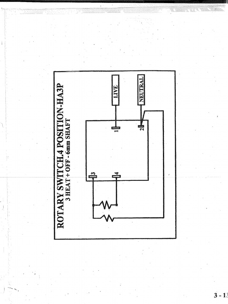 wiring diagrams stoves switches and thermostats macspares connection three heat 4 position stove switch  three heat 4 position stove switch