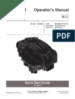 Briggs 650 Operator's Manual