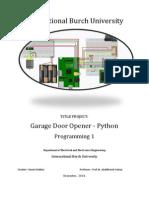 Garage Door Opener - Python