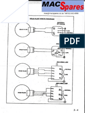 [ZTBE_9966]  Stove Solid Plate Wiring Diagrams | Defy Stove Wiring Diagram |  | Scribd