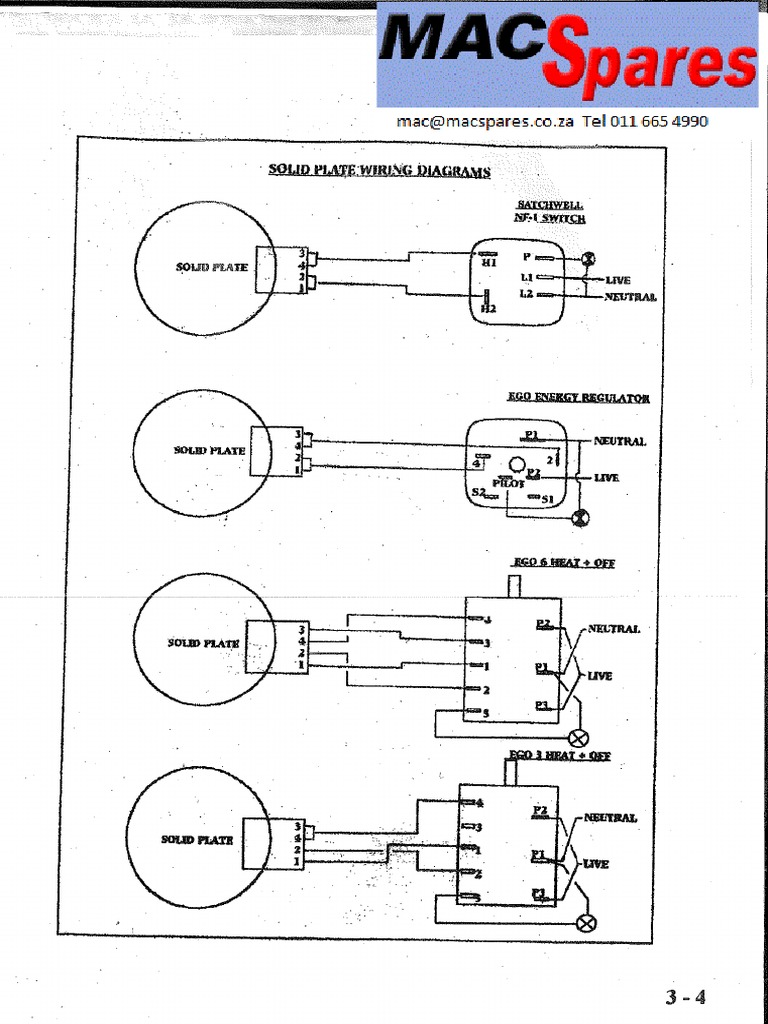 Stove Solid Plate Wiring DiagramsScribd