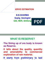 Reserve Estimation