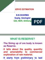 Reserve Estimation
