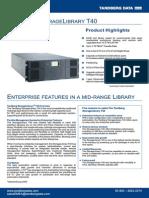 Tandberg Data StorageLibrary T40