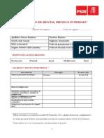 Declaración de rentas, bienes e intereses de Mariano Gómez