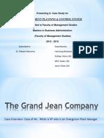 Case Study - Grand Jean Company
