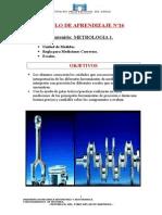 MÓdulo de Aprendizaje Nº16 Metrologia 1 Unidades, Escalas Reglas