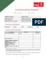 Declaración de rentas, bienes e intereses de Rafael Pini