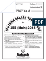 JEE Main 2014_Test 8 (Paper I) Code A
