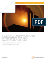 Global 500 Greenhouse Gases Performance Trends 2010 2013