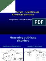 Fluid Therapy,Acid-Base and Electrolyte Imbalance(Dr.tini)