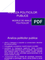 Modele de Analiza Politicilor
