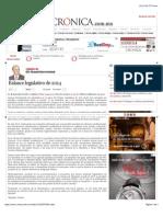 La Crónica de Hoy | Balance legislativo de 2014
