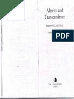 Emmanuel Levinas-Alterity and Transcendence -Columbia University Press (2000)