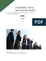 A Qué Universidades Van Las Personas Más Ricas Del Mundo