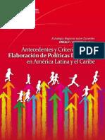 Antecedentes y Elaboración de Políticas Docentes