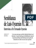 Entrevista a Fernando Oyarzún - Semblanza de Luis Oyarzún