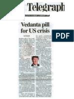 Vedanta Pill for US - Calutta, The Telegraph 5th Feb 2009