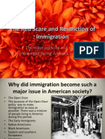 The Red Scare and Restriction of Immigration