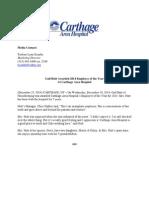 2014 Carthage Hospital Employee of the Year