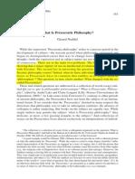 What is Presocratic philosophy?