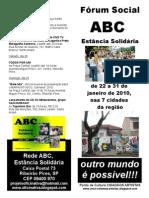 Fórum Social ABC Estância Solidária 2010