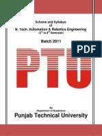 B-Tech Automation & Robotics Engg
