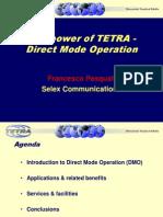 The Power of TETRA-Direct Mode Operation-Selex Communications Francesco Pasquali