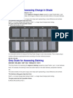 Grey Scale for Assessing Change in Shade