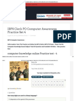 IBPS Clerk PO Computer Awareness Practice Set 4 _ IBPS Recruitment for Clerk PO RRB Specialist Officer 2014