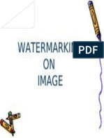 watermarking on  image