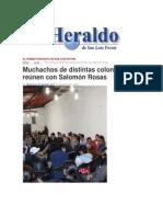 23/12/2014 Muchachos de Distintas Colonias Se Reúnen Con Salomón Rosas