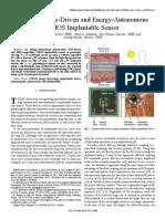 Bio-medical  Electronics IEEE Journal Paper