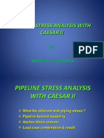 Pipeline Stress Analysis With Caesar II