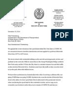 Riverside Drive Speed Limit Letter to DOT (December 19, 2014)