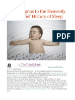 From Hypnos to the Heavenly Bed a Brief History of Sleep