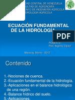 ECUACIÓN FUNDAMENTAL DE LA HIDROLOGÍA