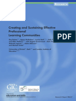 Creating and Sustaining Professional Learning Comunities