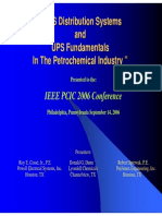 UPS Distribution Systems and UPS Fundamentals in the Petrochemical Industry
