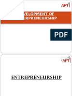 Development of Enterpreneurship