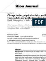 Change in diet, physical activity, and body weight among young-adults during the transition from high school to college