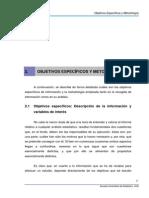 OBJETIVOS ESPECÍFICOS Y METODOLOGÍAo 7526